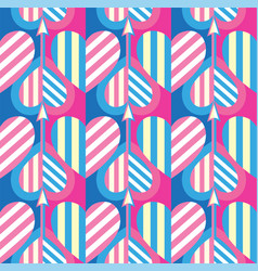 seamless heart pattern ideal for valentine s day vector image