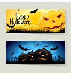 Set of Halloween Banners vector image vector image