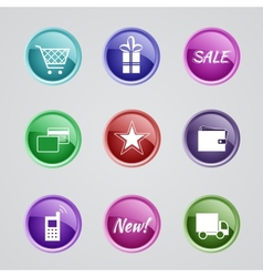 Set of internet shop icons vector