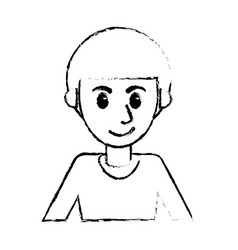 Sketch man portrait cartoon image vector