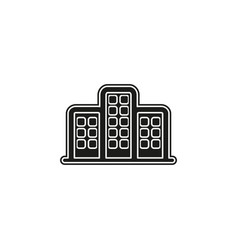skyscraper building icon - office and apartment vector image