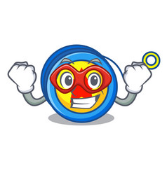Super hero yoyo character cartoon style vector