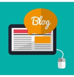 Tablet and blog design vector