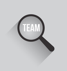team word magnifying glass vector image