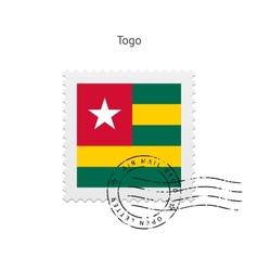 Togo Flag Postage Stamp vector