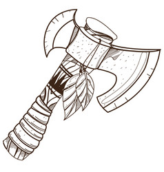 Tomahawk military weapons the indians of north vector