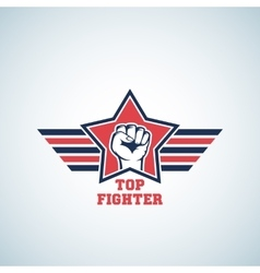 Top Fighter Abstract Sign Symbol Icon or vector