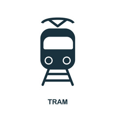 tram icon in flat style icon design vector image