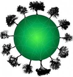 Tree planet vector