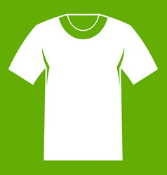 tshirt icon green vector image