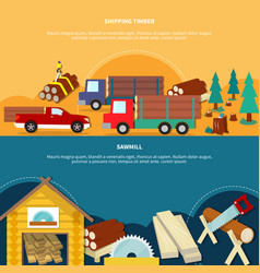 two different lumberjack banner set vector image