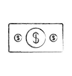 uncolored bill vector image