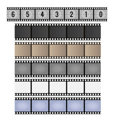 Vintage film strip vector