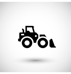 Wheel loader icon vector