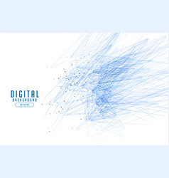 White background with blue lines abstract design vector