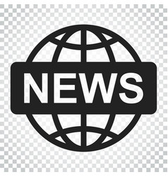 World news flat icon news symbol logo business vector