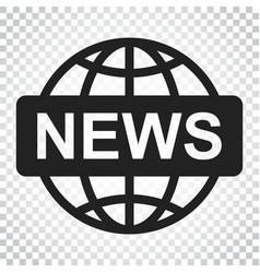 world news flat icon news symbol logo business vector image