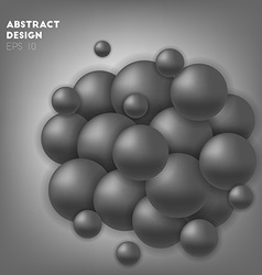 Black abstract circles in sphere vector image