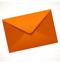 Brown empty mail envelope vector image