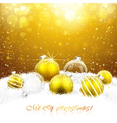 Christmas decorations in the snow vector image vector image