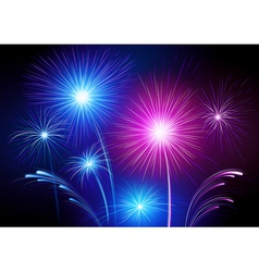 exploding fireworks vector image
