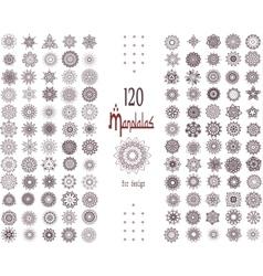 Mandala Card Set vector image vector image