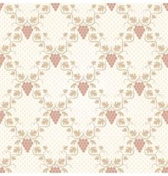 Seamless grape pattern vector