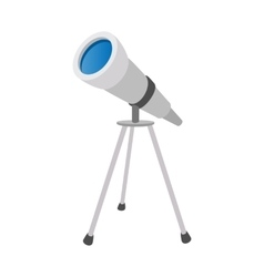 Telescope cartoon icon vector image vector image