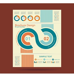 Advertising brochure design template vector image