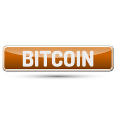 bitcoin - abstract beautiful button with text vector image vector image