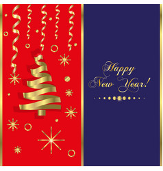happy new year background snowflake winter design vector image vector image