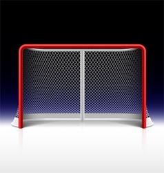Ice hockey net goal on black vector image vector image