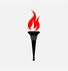 icon torch the flag vector image vector image