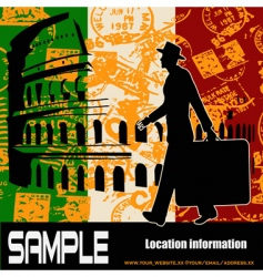 italian travel vector image vector image