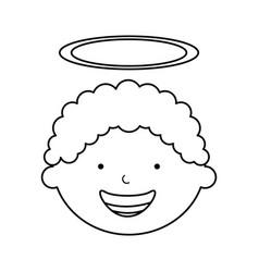 little boy angel character vector image