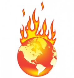 world on fire vector image vector image