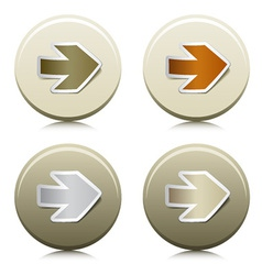 circle buttons with peeling arrow stickers vector image vector image