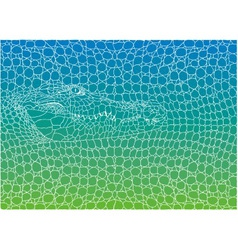 Crocodile abstract background vector image vector image