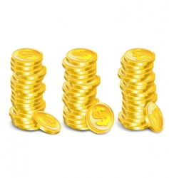 gold coins stacks vector image