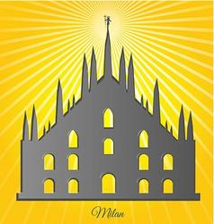 milan cathedral design vector image vector image