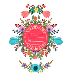 round frame with ornament vector image vector image