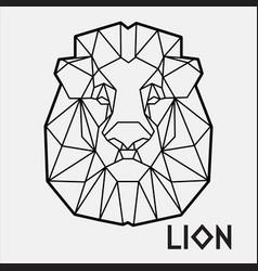 abstract polygonal geometric head a lion 2 vector image