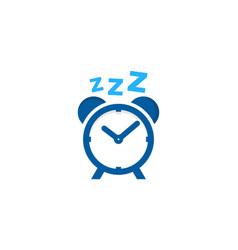 alarm sleep logo icon design vector image