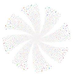 Ampoule fireworks swirl flower vector