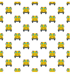 back of school bus pattern seamless vector image