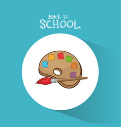 back to school palette paint color brush vector image