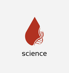 blood and dna logo design template vector image