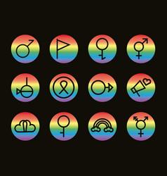 Bundle twelve gender symbols sexual vector