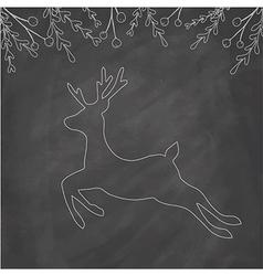 Chalk Deer vector image