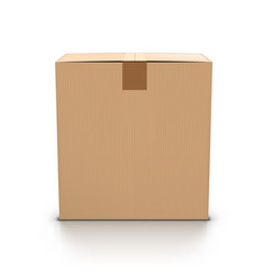 craft cardboard mail box closed with sticky tape vector image